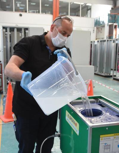 Dezenfektan maliyetini yüzde 95 azaltan cihaz, seri üretime geçiyor