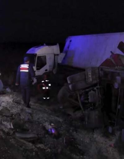 Konya'da iki TIR çarpıştı: 1 ölü, 1 yaralı