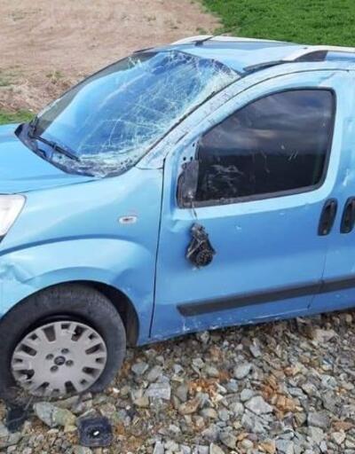 Takla attığı kazayı sosyal medya hesabından paylaştı