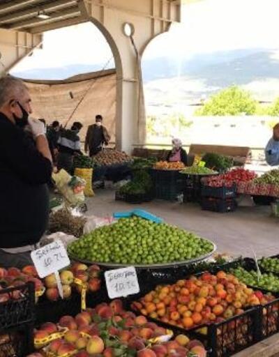 Nurdağı semt pazarında maske uyarısı
