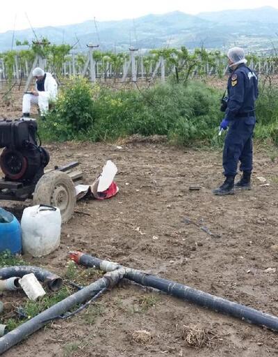 Tarladan sulama malzemeleri çalındı