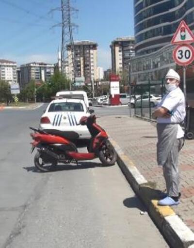 Polis denetimine takılan fırıncının motosikleti çalıntı çıktı