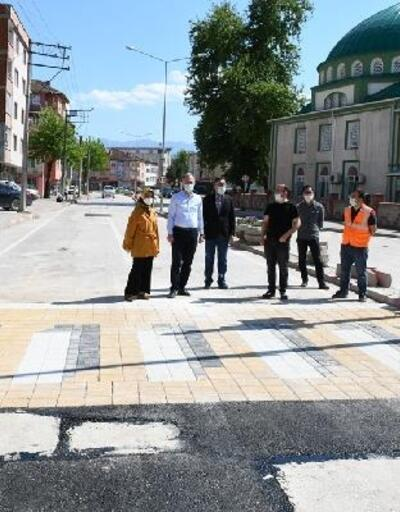 İnegöl Belediyesi üç boyutlu yaya geçidi uygulamasına başladı