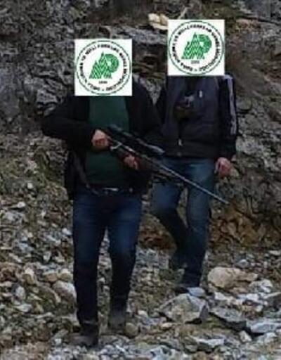 Kaçak avcılar fotokapana yakalandı