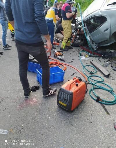 Giresun'da iki otomobil çarpıştı: 6 yaralı
