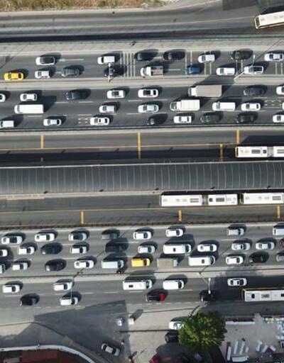 İstanbul'da son 2 ayın en yoğun trafiği