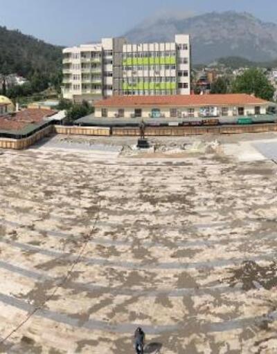 Kemer Cumhuriyet Meydanı Projesi'nde sona gelindi