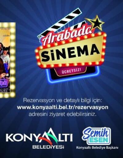 'Arabada sinema' keyfi