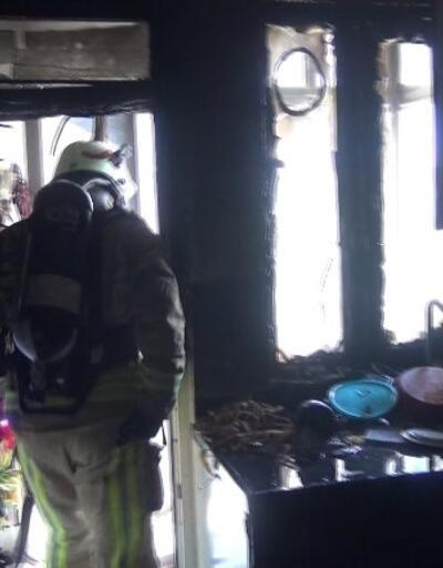 Binada korkutan yangın