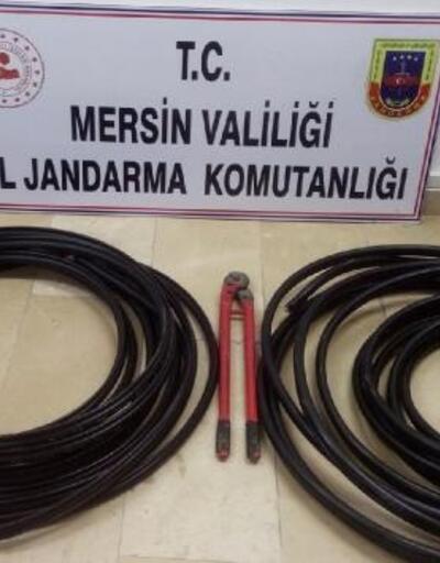 Mersin'de çaldıkları kabloları Adana'da satmışlar