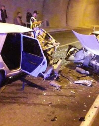 Tünelde kaza: 4 yaralı