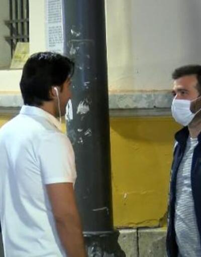 Beyoğlu'nda zabıta maske takmayanları istiklal caddesi'ne almadı
