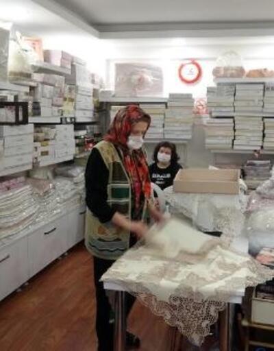 78 yaşındaki kadının aylar sonra dükkanını açma heyecanı