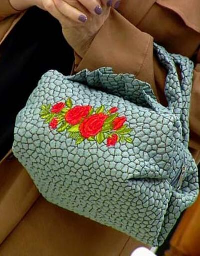 Kare puf kol çantası yapımı