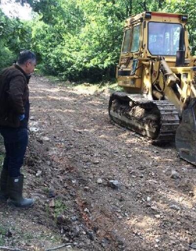 Longoz Ormanları'nda yol onarım ve çevre düzenlemesi başladı