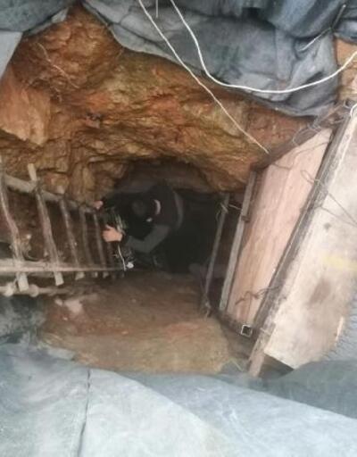 Maden tüneli gibi define kazısına suçüstü: 2 gözaltı