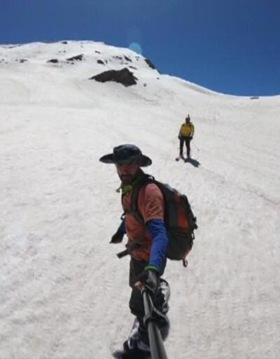 Berçelan Yaylası'nda snowboard