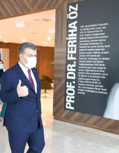Bakan Koca'dan Prof. Dr. Feriha Öz Acil Durum Hastanesine ziyaret