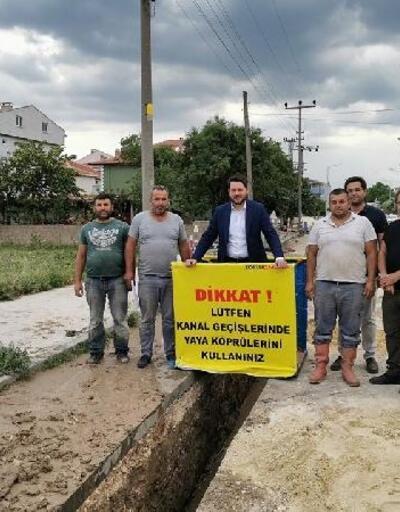 Pınarhisar'da doğal gaz boru hattı döşeme çalışmaları başladı