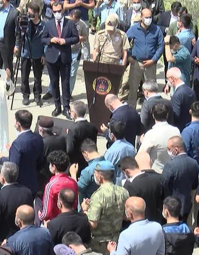 Depremde şehit olan güvenlik korucusu son yolculuğuna uğurlandı | Video