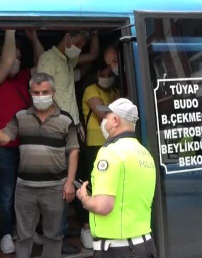 Minibüsten 35 yolcu çıktı; şoföre ceza kesildi | Video