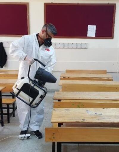 Çankaya'da LGS öncesi okullar dezenfekte edildi