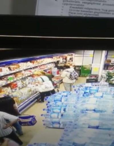Markette yaşlı kadının maaşını çaldılar | Video