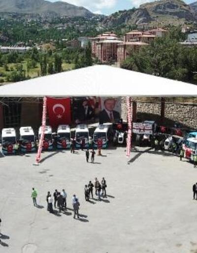 Hakkari'de 24 araç törenle hizmete alındı