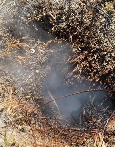 Toprak altından çıkan duman köylüleri endişelendirdi | Video