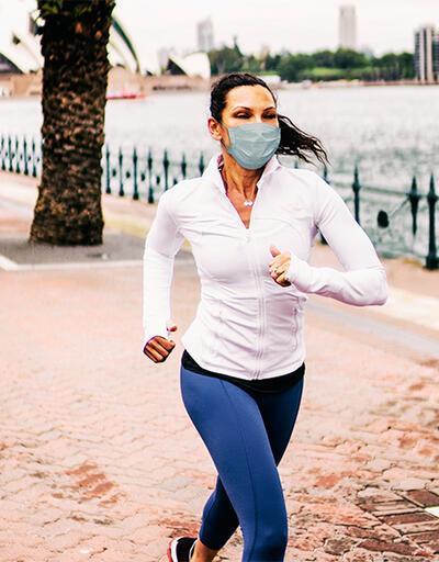 Açık havada spor yapanlara 'maske' uyarısı!   Video