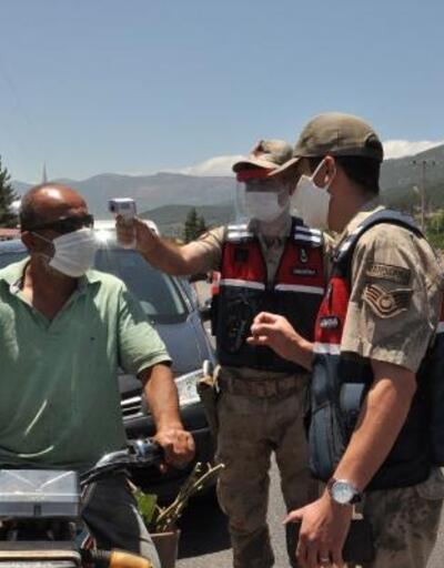 İslahiye'de jandarmadan maske denetimi