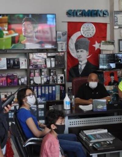 İslahiye'de polisten maske denetimi