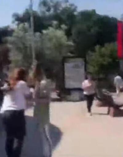Ebru Polat video çekerken depreme yakalandı!