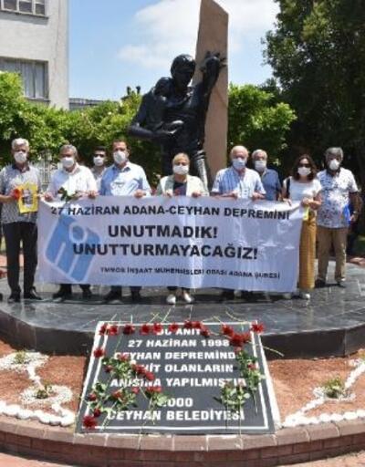 Ceyhan depreminde hayatını kaybedenler törenle anıldı