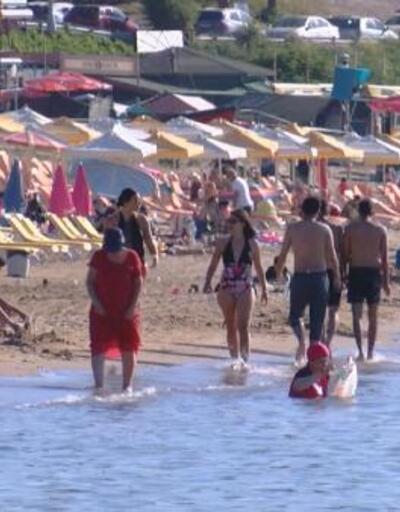 Şile plajları pazartesi bile yoğun