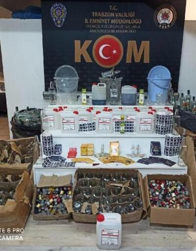 Trabzon'da kaçak içki operasyonu