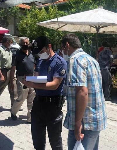 Maske takmayan 3 kişiye para cezası