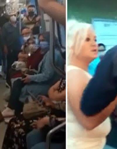 Ankara metrosunda 'maske' tartışması | Video