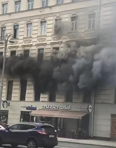 Moskova'da büyük yangın! Çok sayıda itfaiye ekibi müdahale ediyor