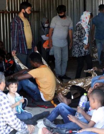 Yunanistan tarafından denize bırakılan göçmenler kurtarıldı