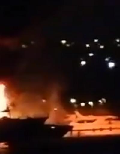 Son dakika haberi... İstanbul'da teknede yangın   Video