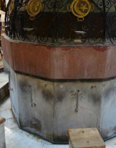 Tarihi caminin muslukları çalındı | Video