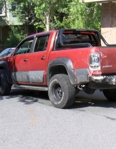 Arazi aracını çaldı, ortalığı birbirine kattı | Video