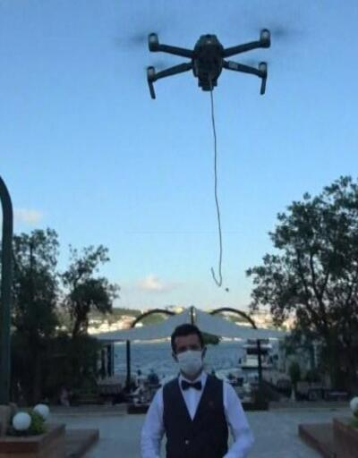 Boğaz'da Drone'lu servis | Video