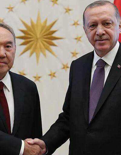 Cumhurbaşkanı Erdoğan, Nazarbayev ile görüştü