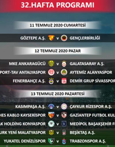 Son dakika... Süper Lig'de 32. hafta programı değişti