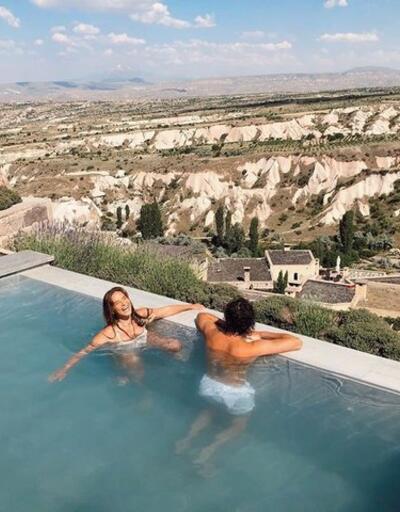 Müge Boz ile eşi Caner Erdeniz, Kapadokya'da