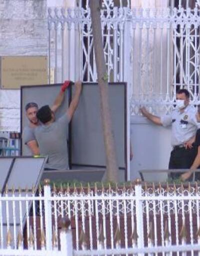 Son Dakika Haberleri: Ayasofya'da 'müze' tabelası söküldü | Video