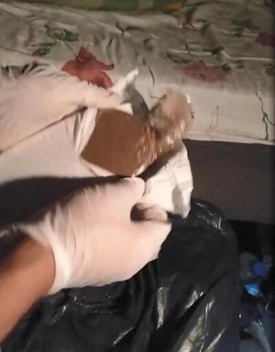 TIR'da sürücü yatağının altından 62 kilo esrar çıktı