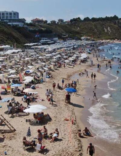 Şile plajlarında yoğunluk; sosyal mesafe uyarısı yapıldı